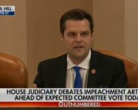 "Rep. Matt Gaetz Calls Out Hunter Biden's Drug Induced ""Adventures"" During Impeachment Hearings (Video)"
