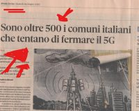 Italy:  More Than 500 Municipalities Have Taken Action To Halt Installation of 5G
