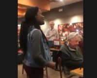 Woman Belts Out National Anthem In Cafe – Watch The Reaction (Video)
