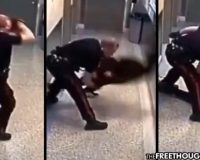 Cop Smashes Handcuffed Woman's Face Into Concrete Floor Over Curfew Violation (Video)