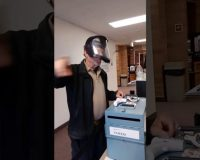 "Idaho:  Security Guards Unlawfully Demand ""You Cannot Vote Without A Mask"" (Video)"