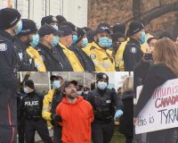 Nearly 100 Cops Try & Keep A Canadian Restaurant Closed Over CONvid-1984 As Protesters Organize (Video)