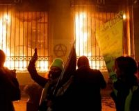 France:  Central Bank Becomes Target Of Paris Protesters – They Set It On Fire!