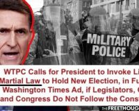 Open Your Eyes, America:  After Pardon, General Michael Flynn Demands Trump Declare Martial Law – Suspend Constitution