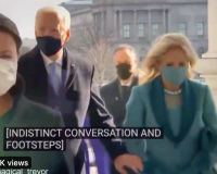 "Joe Biden's Babysitter Tells Him Through Ear Piece ""Salute the Marines"" – Instead of Saluting He Says, ""Salute the Marines"" To Them (Video)"