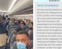 "Frontier Airlines Claims ""Federal Law"" For Facemasks, Then Kicks Off Family Because Baby Doesn't Have One – In Violation Of Their Own Policies!  (Video)"
