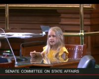 Brainwashed Child Quotes Bible To Chastise Texas Senate For Banning Procedures For Gender Confused Minors (Video)