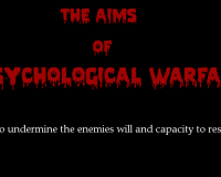 Psychological Warfare:  Deliberate Chaos Aiding in the Creation of Hopelessness