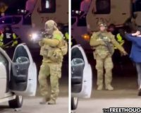 """This Is Martial Law"" – US Soldiers Force Women From Car At Gunpoint For Pumping Gas Past Curfew (Video)"