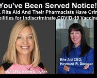 Doctor Serves Notice Of Liability To CVS & Rite Aid For Potential Danger Of Indiscriminate COVID Injections