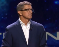"""General Michael Flynn Promotes The Gospel Of """"Americanism,"""" Not The Gospel Of Christ:  References """"Seven Fold Rays"""" & Prays """"In The Name Of Legions,"""" Not Jesus (Video)"""