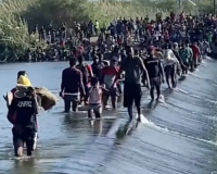NEW VIDEO RELEASED: Shock Footage Shows Countless Migrants Wading Across Rio Grande into America