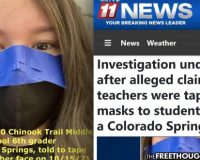 Outrage & Investigation As Teachers Reportedly Taping Masks To The Faces Of Children